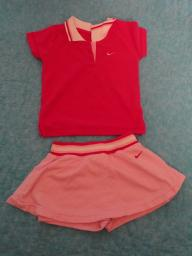 Nike Cute Girls 2 pc Pink Cheer Leading Outfit