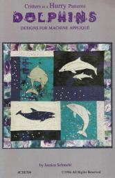 Dolphins Quilt Pattern for Machine Applique