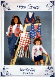 Four Corners Vests For Fun Sewing Pattern Sizes 3-14 Kids