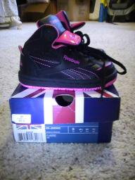 Reebox hightops size5 infant girls
