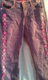 Flower Legged jeans, girls/womens