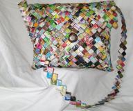 Paper woven purses