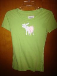 Green Shirt w/moose