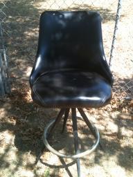 Pair of highback swivel chairs