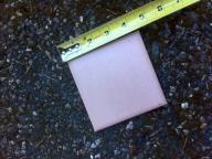 Ceramic Tile Mauve 4.5X4.5 Bullnosed 36