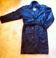 Black leather coat full length large