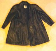 Black leather blazer Large