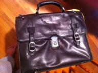 Soft leather brief case