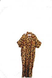 Vintage inspired Leopard print kaftan