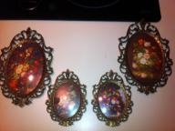 Filligree oval frames 2 large 2 small matching