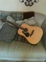 Left Handed Alvarez Acoustic Guitar