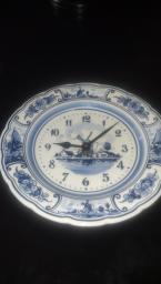 Delft blue clock