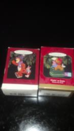 Hallmark OrnamentsTigger and Piglet and Waitin' on Santa Winnie t