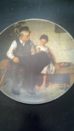 Norman Rockwell plate The lighthouse Keepers Daughter