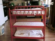 Red 3 tier changing table