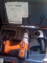 1 Rigid cordless drill w/ original case
