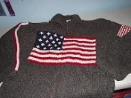 Heavy Wool Knitted USA Sweater