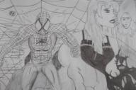 Comic art Spider-man Collage