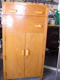 Antique Oak Library Cabinet