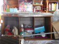 Wood LP storage cabinet
