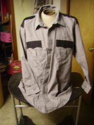 Grey Uniform shirts long sleeve