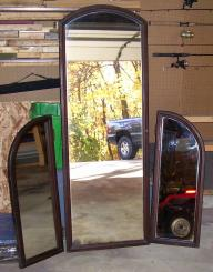 Antique 3-Way Wall Hanging Mirror