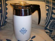 CORNING CORNFLOWER ELECTRIC PERCOLATOR Great Pot of Coffee