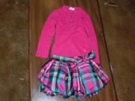 4T Outfit Long Sleeve top with Balloon Skirt