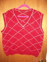 Men's Red Vest