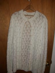 White pretty knit sweater