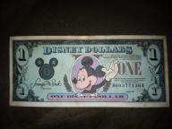 1990 Disney One Dollar Bill
