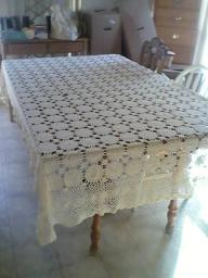 2 cotton crochet tablecloths