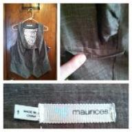 Maurices Womens Vest Plus Size Size 1