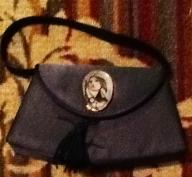 Black Satin Evening Bag