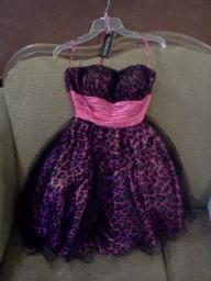 Fuschia & Black size 2 girls homecoming,prom,pageant etc dress