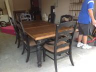 Dining Table with 8 chairs and Curio/Display Case