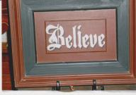 Painted Wooden BELIEVE Picture