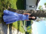 Purple mermaid style prom dress