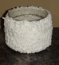 Handcrafted Awesome frosted Jar/Candle holder