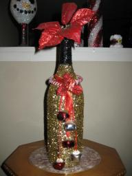 Handcrafted Holiday bottle