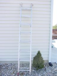 16 foot aluminum extension ladder. Type III
