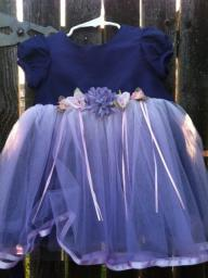 purple formal toddler dress