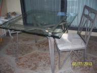Glass top kitchen table w/4 chairs