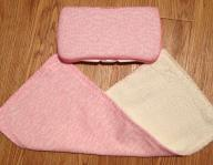 Wipes case with matching burp cloth