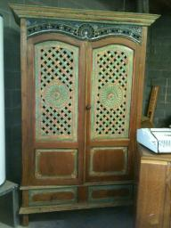 hand carved antique armoire
