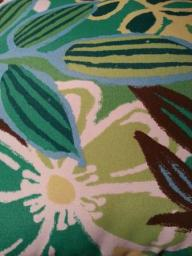 2 Leaf - Green and Blue - Indoor/Outdoor Pillow
