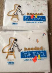 2 Baby bath towels