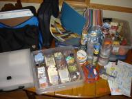 Scrapbook Package: paper, embellishments, totes, cardstock...