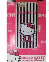 Iphone 5 HELLO KITTY wrap close fitting slip on CASE protection