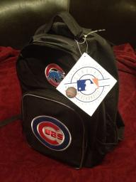Chicago Cubs Backpack Black Color Embroidered Logo NEW TAGS